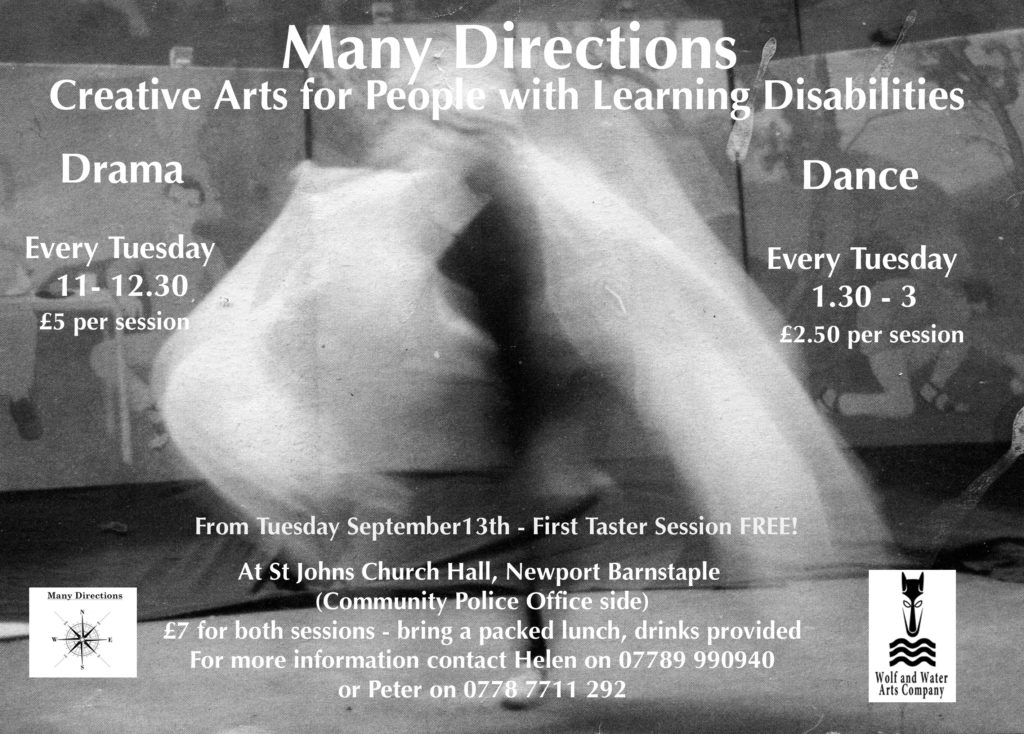 New Autumn dance & drama workshops for people with learning disabilities in North Devon!
